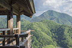 view from the top (Cary Strachan) Tags:     japan yamadera yamagataprefecture outside traditional shrine temple decorative outdoor wood ornate timber stickers view forest nature green sky