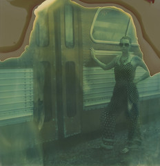 Polaroid Week, Day 3 (abdukted1456) Tags: polaroid sx70 onestep sonar integral instantfilm expired tz timezero girl woman expiredfilm me maine kennebunkport bus travel traveler retro vintage roidweek polaroidweek