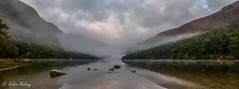 Glendalough 22 October 16 3 (Helen Mulvey) Tags: glendalough wicklow ireland upper lake sunrise water dawn nikon d5100 mist fog eerie landscape panorama reflection outdoor