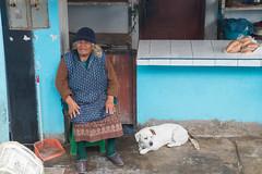 Peruvian old woman with dog (fabioresti) Tags: peruvian old woman dog panamericana perù 2016 cane canoneos80d peruviana signora anziana sigma1770