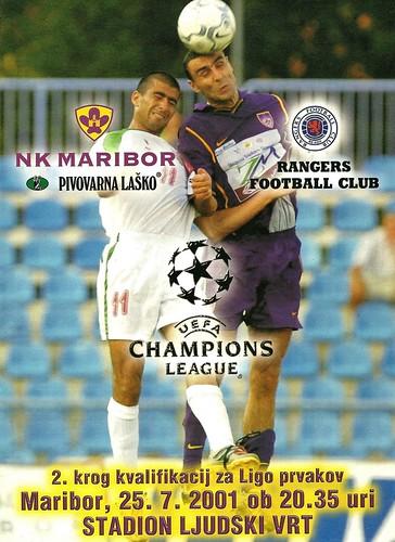 NK Maribor v Rangers 20010725