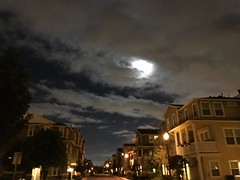 Night shot #iphone7 (shinnygogo) Tags: southbayla losangeles nightshot california 2016 fall condos torrance moon nightscape cloudscape bedtown