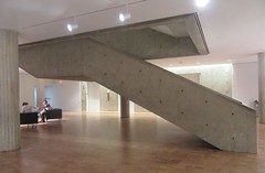 Staircase in the modernist style (cohodas208c) Tags: milwaukeeartmuseum architecture museums design