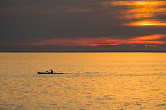 Paddle in the Sunset (Infomastern) Tags: goodnightsunset malm vstrahamnen boat bt canoe hav kanot sea silhouette siluett solnedgng sunset