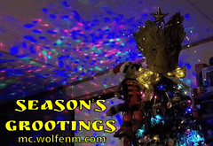 wolfenm-grootmas2016-ezgif.com-54e2d41676 (WolfenM) Tags: grootmas rocketracoon groot gotg guardiansofthegalaxy solstice solsticetree yule xmastree christmastree treetopper marvel marvelcinematicuniverse