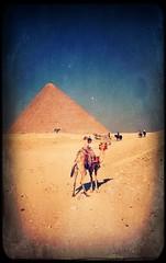 Gizeh ohne Touristen (Casey Hugelfink) Tags: kairo cairo alcahira gizeh egypt ägypten pyramid pyramide camel kamel sky vintage horses riding pferde reiter landmark
