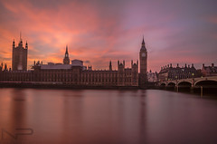 Palace Of Westminster & Big Ben. (aquanandy) Tags: london londonist timeout timeoutlondon visitlondon visitbritain visitlondonofficial nikond7000 nikonflickraward nikon nikonuk nikoneurope nikonuser sigma1750 ndfilter longexposure londres explore explorer stunning sunset beautiful tourist destinations follow followifyoulike followme panorama colours sky smooth westminster bridge bigben clocktower