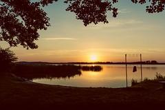 Sehnsucht... (lippediak) Tags: sunset orange color yellow uckermark brandenburg warnitz germany see sea badehose canon canoneos550d sonnenuntergang