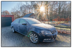 Iced up car (William Krusche) Tags: blue car vw volkswagen sonya7rii sony sony1635f4 sunstar ice winter sun