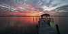 It's nice to remember. (Jill Bazeley) Tags: merritt island florida sunset dock pier boathouse intracoastal waterway indian river lagoon reflection pilings hurricane matthew damage damaged sony alpha a6300 sel1018 1018mm long exposure smooth app sky clouds cielo nubes winter