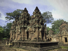 withstanding the test of time (cheezepleaze) Tags: cambodia temple sandstone painted texture carvings iphone