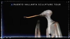 Colunga Sculpture on Puerto Vallarta's Malecon using the photo app Snapseed to make a poster (elizabatz.jensen) Tags: sculpturetour sculpture mexico puertovallarta malecon photoapp snapseed poster colunga magicrealism surreal