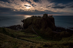 Dùn Fhoithear by Moonlight (GenerationX) Tags: aberdeenshire barr canon6d dunechtestate dunnottarcastle dùnfhoithear hamlet neil northsea scotland scottish stonehaven thehoncharlesanthonypearson autumn boats castle cliffs clouds dusk evening fullmoon gloaming landscape medieval moon moonlight path rocks ruins sea ships silhouette sky supermoon water unitedkingdom gb