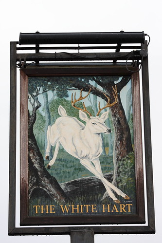 The White Hart pub sign Grays Essex UK