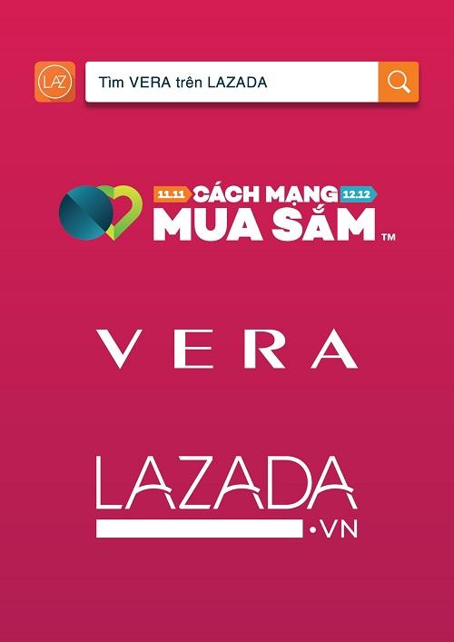 VERA chính thức tham gia cách mạng mua sắm trên Lazada ngày 11.11