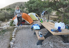 Guadalupe Campsite (knutsonrick) Tags: camping hiking tentcamping moutains guadalupemountains guadalupemountainsnationalpark vanhorntx texas westtexas