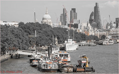 River Thames ((Tony) Phillips) Tags: london thames stpaulscathedral embankment boats