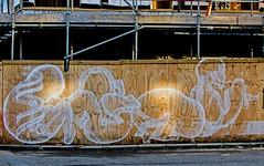 new life building on the back-streets of Sheffield (PDKImages) Tags: sheffield sheffieldart sheffieldstreetart streetart art beauty girl cat baby newlife foetus doll gothi horror walls cracked eyes building gorillaz love clown