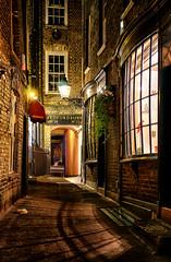 Goodwins Court by Night (branestawm2002) Tags: london alley alleyway old dickensian night evening dark cosy gaslight shadows city history harry potter hidden atmospheric coventgarden harrypotter diagonalley 1690 georgian