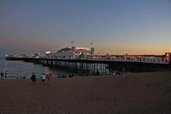 Lights of Brighton Pier at dusk (Carol Spurway) Tags: brighton dusk sunset pier thebrightonmarinepalaceandpier palacepier brightonpier brightonpalacepier east view