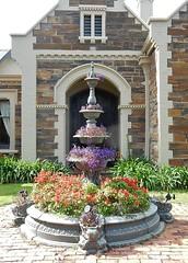 Pretty Fountain (mikecogh) Tags: glenelg fountain pretty flowers bluestone tiers arch gable