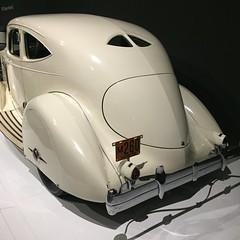 Rolling Sculpture - NC Museum of Art (jfmecca) Tags: car artdeco nc raleigh ncmuseumofart rollingsculpture classic 1934 packard twelve model1106 white iphone mobile taillights