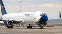 EI-CMD Blue Panorama Airlines Boeing 767-324(ER)(WL) (Nick Air Photography) Tags: img8986 eicmdbluepanoramaairlinesboeing767324erwl milanmxp airside planesspotting travel holidays airplane aircraft closeupshot boeing