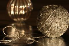 Argentum (alideniese) Tags: silver blackbackground reflection thread ball ballofthread bokeh wineaerator winebreather shiny light macro closeup