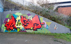Most (tombomb20) Tags: most horbury team g gits teamg graffiti street art lettering typography spray paint shading tunnel underpass west yorkshire westyorkshire wy tombomb20 2016