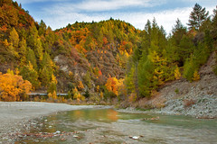 Arrow River In Autumn || ARROWTOWN || STH ISLAND NZ (rhyspope) Tags: nz new zealand arrowtown queenstown autumn fall river water mountains nature rhys pope rhyspope canon 5d mkii creek stream forest woods south island
