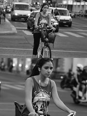 [La Mia Citt][Pedala] (Urca) Tags: milano italia 2016 bicicletta pedalare ciclista ritrattostradale portrait dittico nikondigitale mir bike bicycle biancoenero blackandwhite bn bw 907122