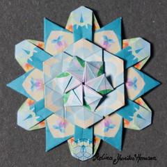 Iimori Flower B (Day 51) (Yureiko) Tags: yureiko tessellation papierfalten papier origami paperfolding paper
