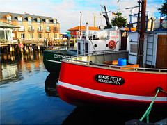 In the fishing port of Heiligenhafen (Ostseetroll) Tags: deu deutschland geo:lat=5437365849 geo:lon=1098295927 geotagged hafen heiligenhafen schleswigholstein ostsee balticsea fischkutter fishingboats