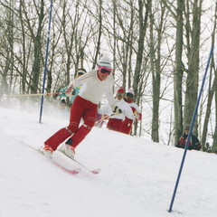 Ski School Slalom (wordman760) Tags: skiing gryrocks snoweagleskischool outdoors winter snow sport ski slalom racing race laurentides laurentians québec canada saintjovite monttremblant 35mm