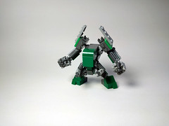 M.K.008 Redux - Mark II (Jay Biquadrate) Tags: mf0 mfz microscale moc mobileframezero mech mecha lego