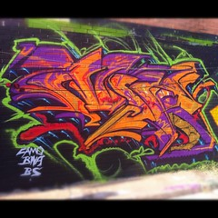 MR on some ish (seor_violeta) Tags: street art graffiti dallas mr bs camo trujillo bna