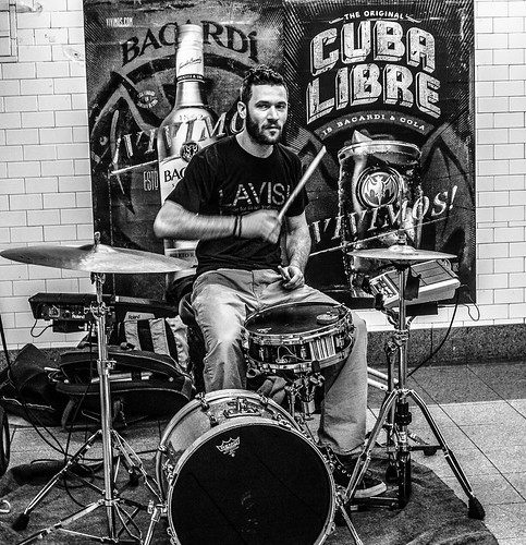 Drummer in the Subway Station