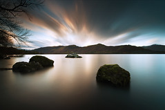 (djshoo) Tags: longexposure england mountains water clouds landscape evening lowlight colours dusk lakedistrict sunsets cumbria derwentwater keswick eveninglight sigma1020mm wideanglelens leefilters nikond90 leepolariser leebigstopper