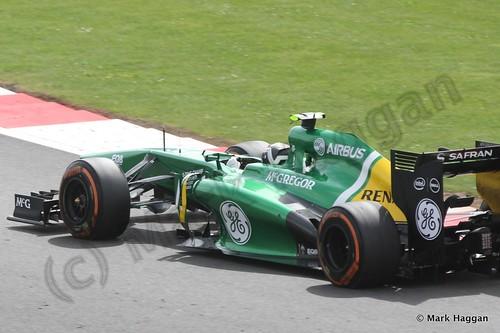 Giedo van der Garde in qualifying for the 2013 British Grand Prix