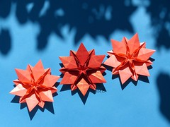 My PRIEN FOLDS 2013  -  Vanda 6 points / Sechseckige Vanda by Carmen Sprung (esli24) Tags: weihnachten origamistar papierfalten carmensprung esli24 ilsez sechseckigevanda vanda6point secheckigerorigamistern