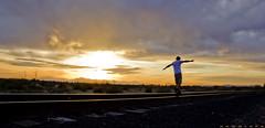 Train2 (Hamrock) Tags: sunset arizona sun train tracks andrew solo chandler hamrock