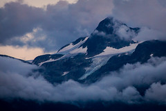 Wedge Mountain In The Clouds (conradolson) Tags: snow mountains clouds glacier