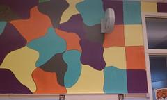 Wall1 - random shapes become blocks (Susan Schwerin) Tags: school dc washington mural thomas blocks elementary brower blobs transform neval capitals monumental schwerin dcps muralist beautificationday backstrom susanschwerin