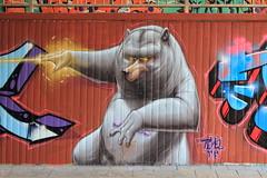 i-dont-care bear (Pixeljuice23) Tags: streetart graffiti friendlyfire pixeljuice idontcarebear whogivesafuckbeam