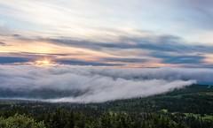 Sunset over Anchorage (Kretzsche93) Tags: sunset summer usa mountain alps alaska america flat top over august glen anchorage amerika 2013