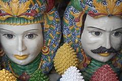 Taormina, Sicily (Interpab) Tags: handicraft ceramics faces souvenir sicily taormina porcelain