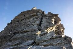 Climbing south ridge (sylweczka) Tags: snow mountains alps switzerland climb tour glacier dentblanche hochtour ferpecle sylweczka
