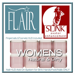 Flair - Nail Hud Add Ons both types Included Set 153 Womens Natural & Dirty (Sasy Scarborough ) Tags: womens nails mens flair addons slink