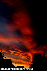 """""""High in the Sky, Still Awesome"""" (Lewis Adams Photography) Tags: sunset red sky orange yellow clouds sunrise amazing nikon d70 bright nikond70 d70s nikond70s af nikkor afnikkor"""
