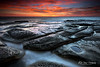 Sunrise @ Dudley Beach (Kiall Frost) Tags: ocean seascape beach water sunrise newcastle landscape nikon rocks australia beaches dudley dudleybeach kiallfrost d800e